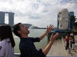 賢さん水飲み