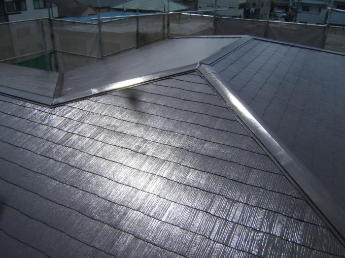 DSCF8394屋根塗り立て